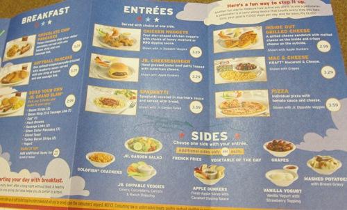 denny's kids menu