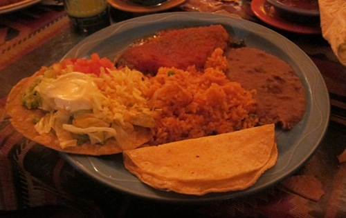 combination plate at las palmas restaurant