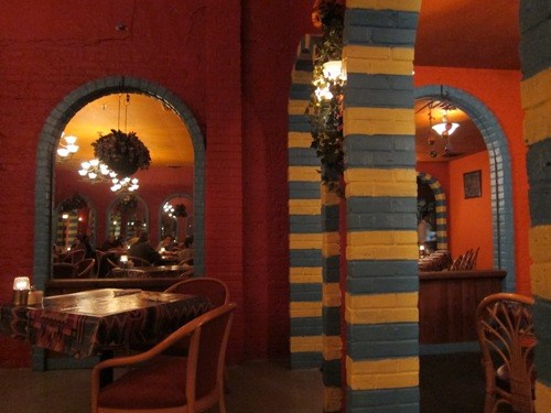 inside decor of las palmas restaurant in Highland Park