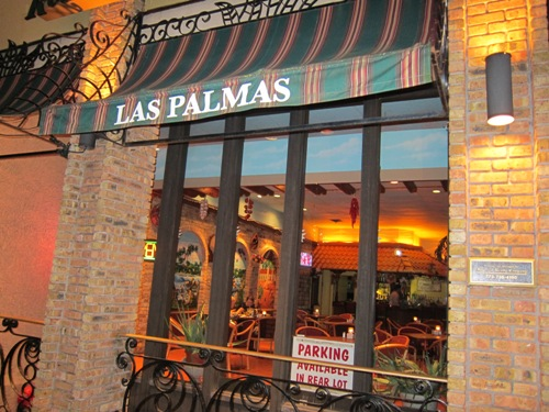 Las Palmas Mexican Restaurant In Highland Park Outside Sign