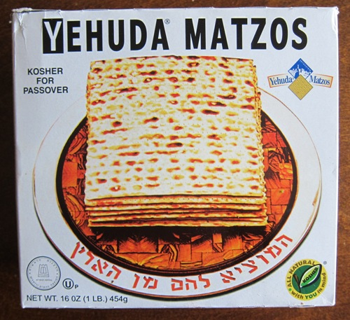 a box of matzo crackers