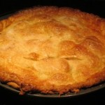 baked apple pie - fresh out of the oven!