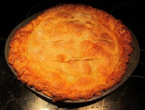 homemade baked apple pie