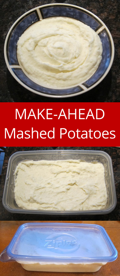 Amazing MAKE-AHEAD Mashed Potatoes - perfect for holiday dinners! | MelanieCooks.com