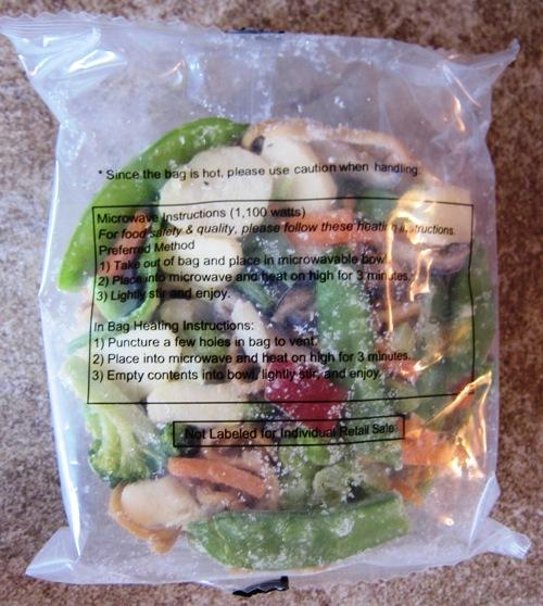 Yakisoba noodles frozen in bag