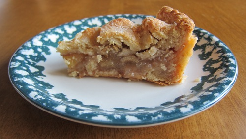 a slice of homemade apple pie