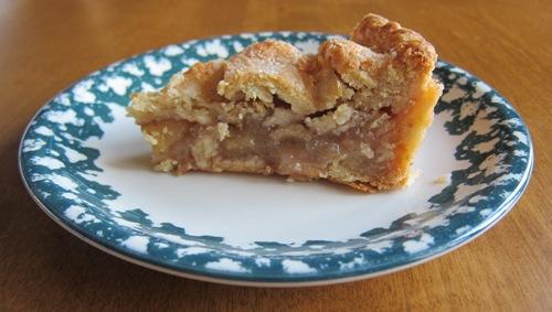 a slice of homemade apple pie