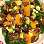 Cranberry Spinach Pecan Salad