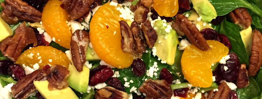 Cranberry Spinach Pecan Salad