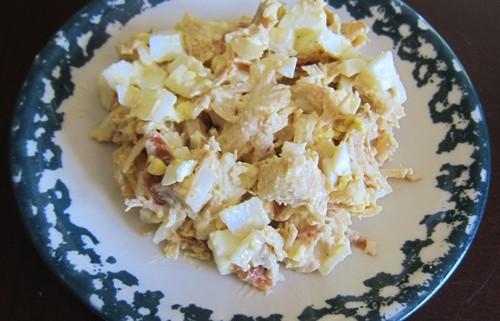 make a chicken salad frmo leftover rotisserie chicken