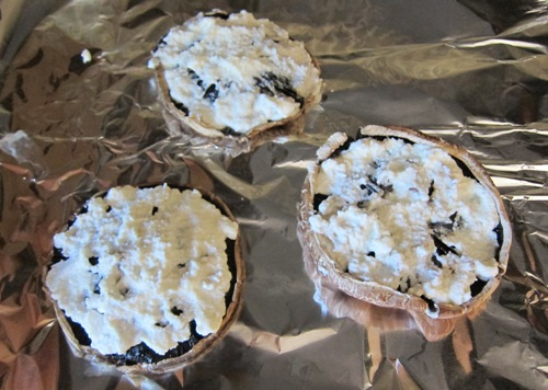 portobello mushroom spread with ricotta cheese
