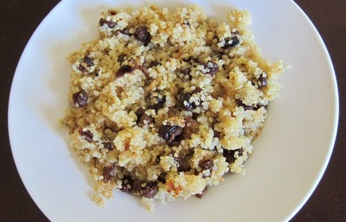 quinoa recipe with raisins