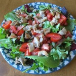 main dish salad with leftover chicken