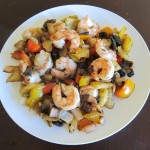 shrimp stir fry with mushrooms and bell peppers