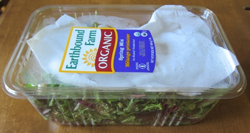 packaged salad greens lettuce mix