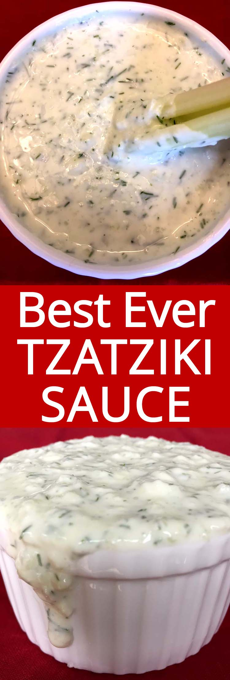 This homemade tzatziki sauce is amazing! Tastes like the one in a Greek restaurant!