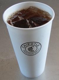 Chipotle freshly brewed ice tea