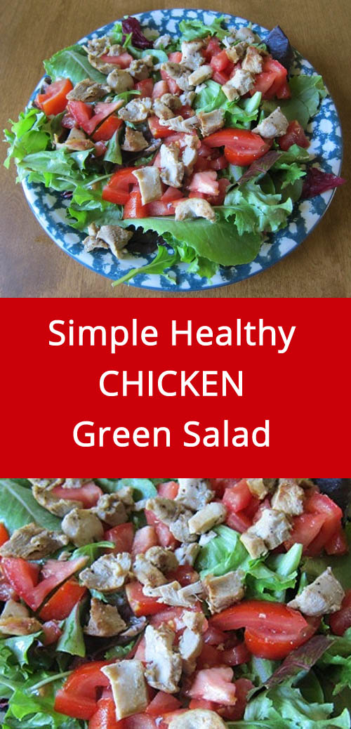 Easy Main Dish Salad With Chicken, Lettuce and Tomatoes | MelanieCooks.com