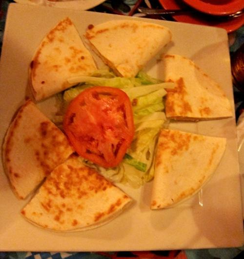cheese quesadillas at las palmas highland park