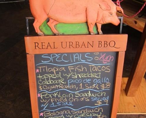 real urban bbq restaurant specials