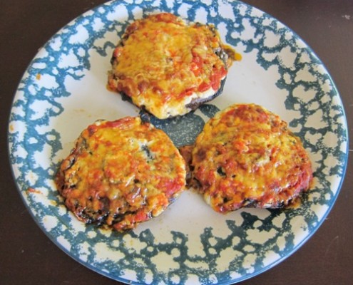 stuffed portobello mushrooms with cottage cheese