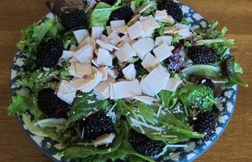 Turkey Blackberry Salad With Parmesan Cheese