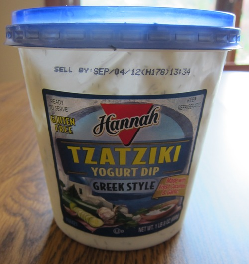 tzatziki vegetable dip