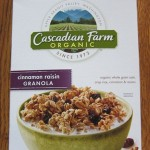 cascadian farm organic cinnamon raisin granola package