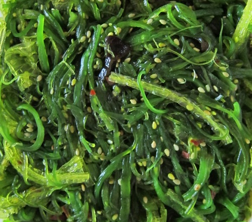 seaweed salad closeup picture photo