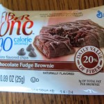 fiber one 90 calorie chocolate fudge brownie in a wrapper