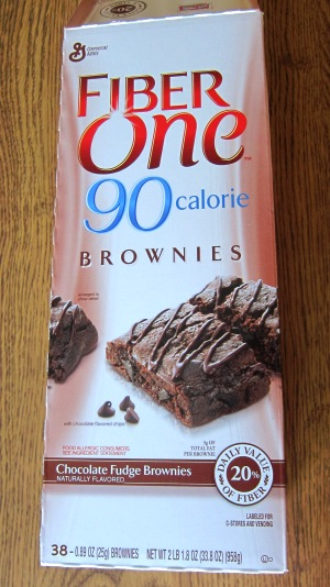 Costco box of 90 calorie brownies
