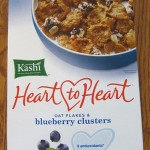 package of kashi heart to heart oat flakes & blueberry clusters cereal