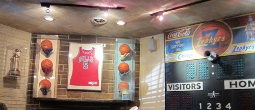 Lou Malnati's sports memorabilia