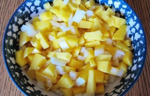 simple mild mango salsa
