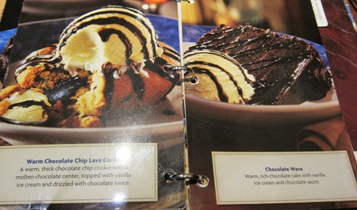 red lobser dessert menu