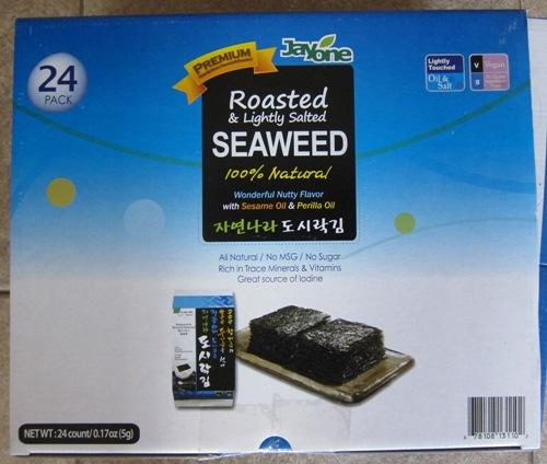 roasted seaweed Costco package