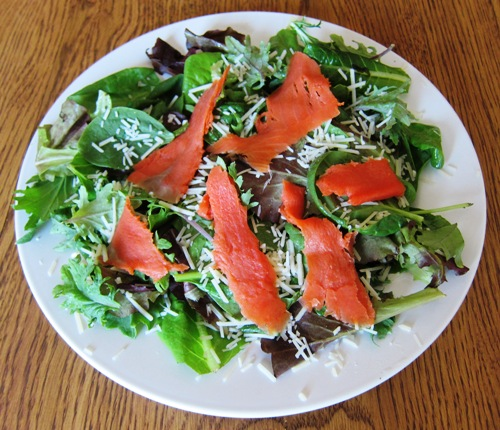 Parmesan Smoked Salmon Salad