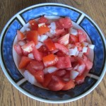 chopped tomatoes and onions salad
