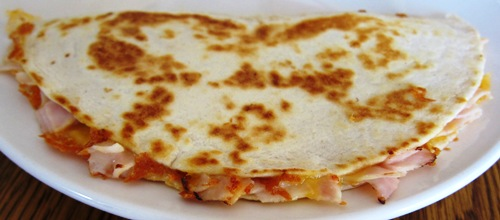 deli turkey quesadillas recipe