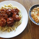 turkey meatballs and healthy cole slaw