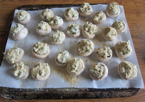 stuffed mushrooms before baking