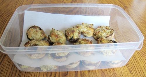 storing made-ahead stuffed mushrooms
