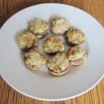 Thanksgiving appetizer stuffed mushrooms