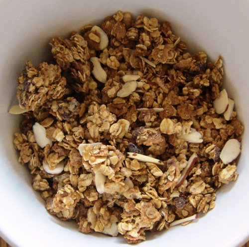 dry dark chocolate almond granola