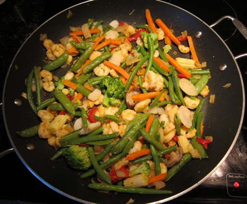 stir-fry with frozen vegetables from costco