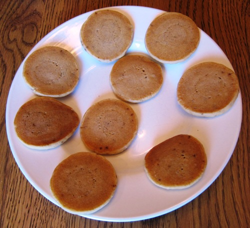 eggo mini pancakes on the plate