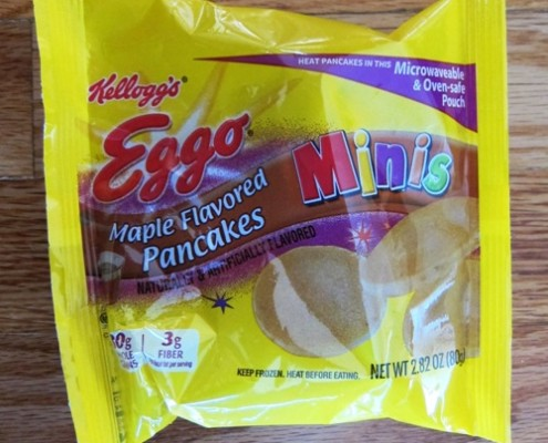 microwaweable pouch of eggo mini pancakes from costco