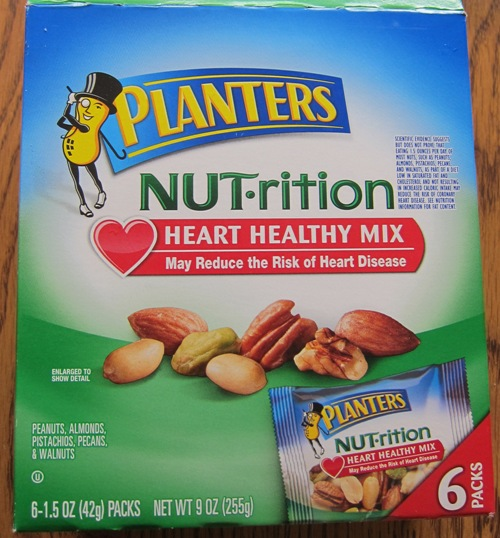 planters heart healthy mix nuts package