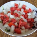 chopped tomato and cucumber salad recipe