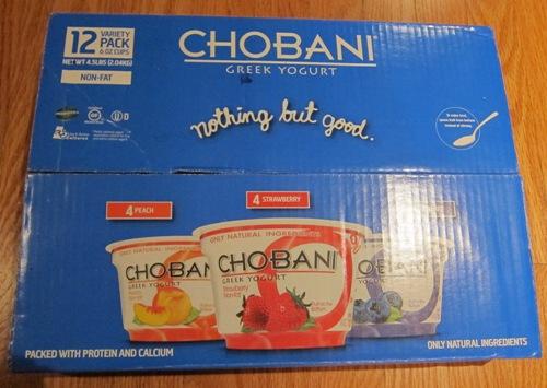 chobani greek yogurt costco package